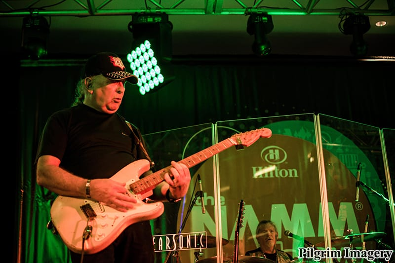 New Blues Revolution performing on Hilton Stage for NAMM 2017